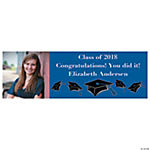 Medium Blue Graduation Custom Photo Banner