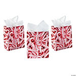 Medium Candy Cane Gift Bags