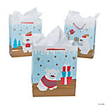 Medium Christmas Polar Bear Gift Bags