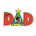 Merry Christmas Dad Picture Frame Magnet Craft Kit
