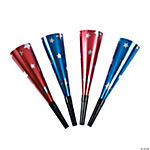 Metallic Patriotic Party Horns