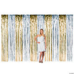 Metallic Streamer Hanging Curtain