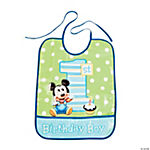 Mickey Mouse's 1st Birthday Bib