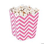 Mini Candy Pink Chevron Popcorn Boxes