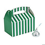 Mini Green Striped Treat Boxes