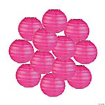 Mini Hot Pink Paper Lanterns - 4 1/2