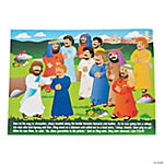 Mini Jesus Heals the Lepers Sticker Scenes