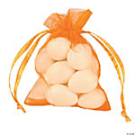 Mini Pumpkin Drawstring Bags