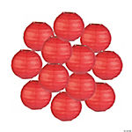 Mini Red Paper Lanterns - 4 1/2