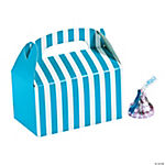 Mini Turquoise Striped Treat Boxes