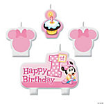 Minnie's 1st Birthday Candle Set