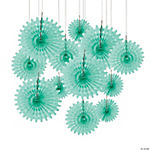 Mint Tissue Hanging Fans
