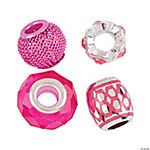 Mix & Match Hot Pink Large Hole Beads