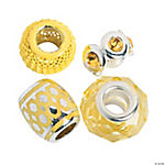 Mix & Match Yellow Large Hole Beads