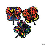 Monarch Butterfly-Shaped Folding Fans