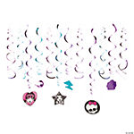 Monster High™ Swirl Decorations