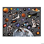 Moon & Space Station Sticker Scenes