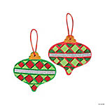 Mosaic Glitter Christmas Ornament Craft Kit