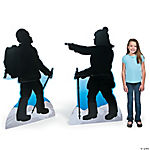 Mountain Climber Silhouette Stand-Ups