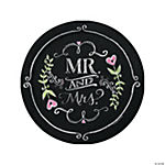 Mr. & Mrs. Chalk Dinner Plates