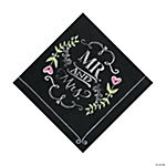 Mr. & Mrs. Chalk Luncheon Napkins