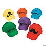 Mustache Baseball Cap Assortment