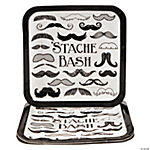 Mustache Party Dinner Plates