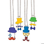 Mustache Top Hat Necklaces