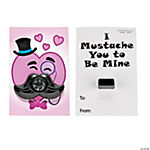 Mustache Whistle Valentine Cards