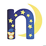 """N Is For Night"" Lowercase Letter N Craft Kit"