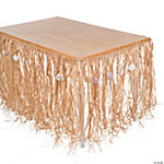 Natural Raffia and Sea Shell Table Skirt