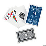 Navy Roman Monogram Playing Cards