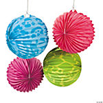 Neon Animal Print Party Lanterns