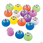 Neon Rubber-Coated Large Hole Beads - 10mm