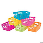 Neon Tall Storage Baskets with Handles