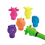 Neon Zoo Animal Pencil Top Erasers