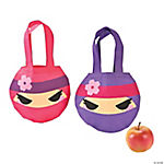 Ninja Girl Mini Tote Bags