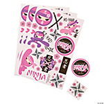 Ninja Girl Sticker Sheets
