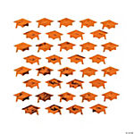 Orange Graduation Hat Confetti