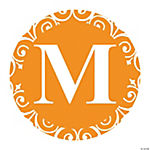 Orange Personalized Monogram Favor Stickers