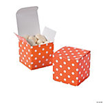 Orange Polka Dot Gift Boxes