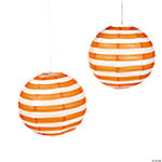 Orange Striped Paper Lanterns