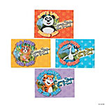 Panda & Friends Postcard Invitations