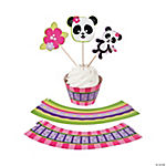 Panda Party Cupcake Wrappers with Picks