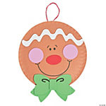 Paper Plate Gingerbread Man Christmas Craft Kit