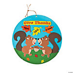 Paper Plate Give Thanks Squirrel Sign Craft Kit