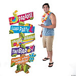 Paradise Luau Directional Yard Sign
