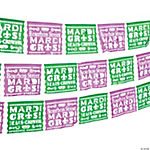 Party Gras Cutout Banner