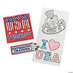 Patriotic Activity Books with Crayons