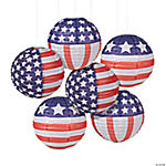 Patriotic Flag Paper Lanterns
